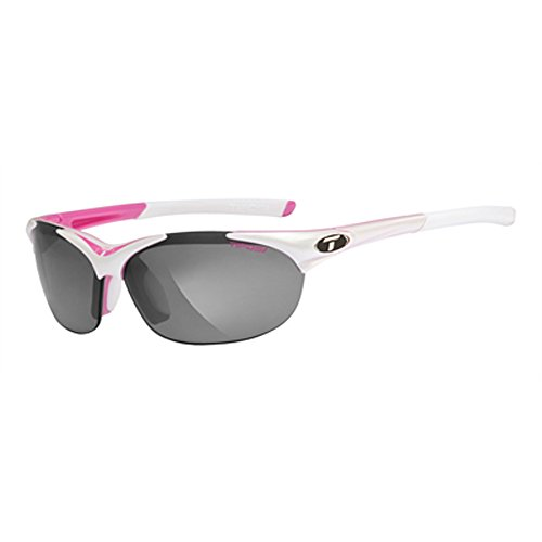 Tifosi Womens Wisp 0040103101 Wrap Sunglasses,Race Pink Frame/Grey, Red & Clear Lens,One - Sport Sunglasses Tifosi