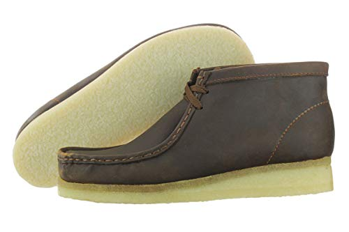 Clarks Originals Men's Wallabee Boot, Beeswax Leather, 8.5 M