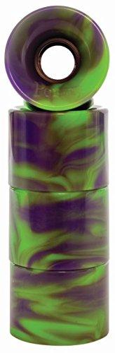 適応非公式フリンジPenny Skateboard(ペニースケートボード) ウィール スワール PARTS(ウィール スワール パーツ)   Swirl Green / Purple(スワール グリーン/パープル) 59MM