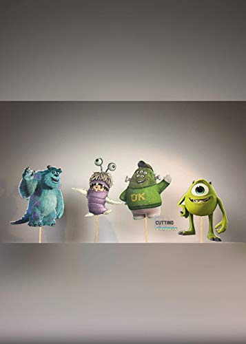 Monsters Inc. Cupcake Topper Party Decor -