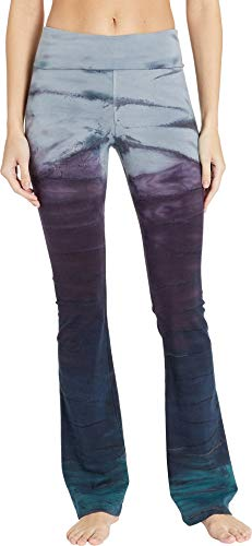 Hard Tail Women's Rolldown Bootleg Flare Pants Rainbow Horizon 78 X-Large 34 -