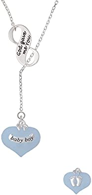 Delight Jewelry I Love You to The Moon and Back Infinity Lariat Necklace