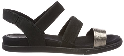 ECCO Women's Damara Open Toe Sandals, Grey Black (Warm Grey/Black 54142)