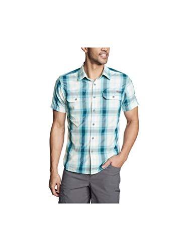 Eddie Bauer Men's Mountain Short-Sleeve Shirt, Lt Jade Regular XL Eddie Bauer Short Sleeve Shirt