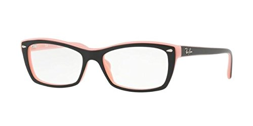 88c983aa70a Ray-Ban Women s RX5255 Eyeglasses Top Black On Pink 51mm by Ray-Ban