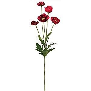"Sullivans Artificial 21"" Mini Poppy Extra Long Branch 55"