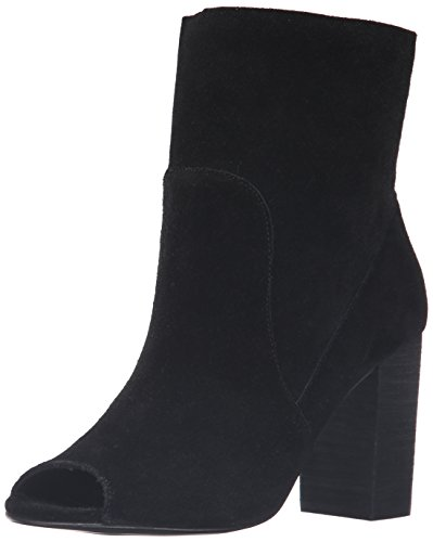 Chinese Laundry Women's Tom Girl Peep Toe Boot, Black Suede,  8 M ()
