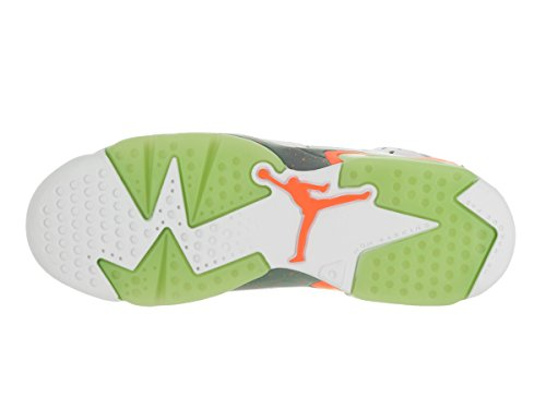 Nike White / Ghst Green-Hst-Brght Mng, Zapatillas De Baloncesto para Niños Blanco (White / Ghst Green-Hst-Brght Mng)