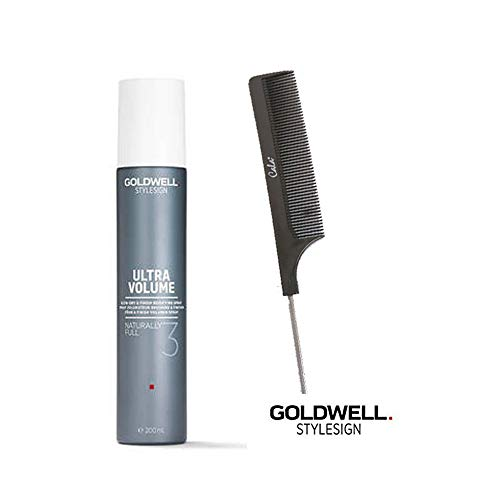 - Goldwell STYLESIGN ULTRA VOLUME 3 NATURALLY FULL BODIFYING SPRAY - 5.8 OZ/with Pin Tail Comb