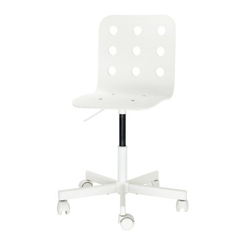 Children's Swivel Desk Chair ON CASTERS White Adjustable Height by IKEA
