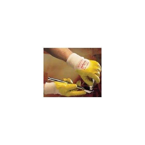 Ansell Nitrotough N230Y Guanto Oleorepellente, Protezione Meccanica, Giallo, Taglia 9 (Sacchetto di 12 Paia)
