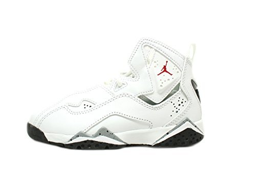 58549dfcc6da07 Galleon - Jordan Kids True Flight BP White Gym Red Black Wolf Grey Size 13.5