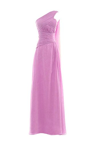 Snowskite Womens One Shoulder Long Chiffon Bridesmaid Evening Dress size 24 Lilac