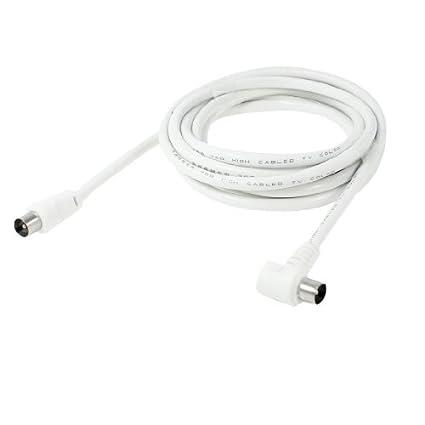 Amazon.com: eDealMax 2,5 m Longitud Blanca M/M conector de ...