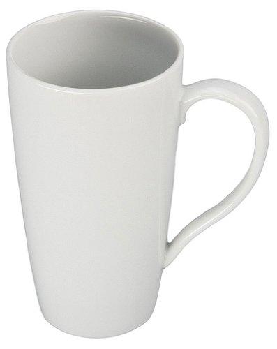 BIA Cordon Bleu White Porcelain 17 ounce Latte Mug, white