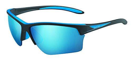 Bollé Flash Lunettes de soleil Flash Matte Black/Blue Polarized Offshore Blue oleo AR