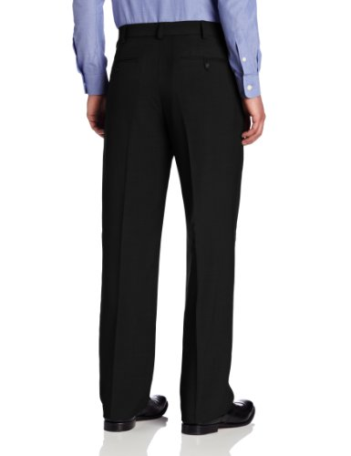 Van Heusen Men's Flat Front Straight Fit Crosshatch Pant