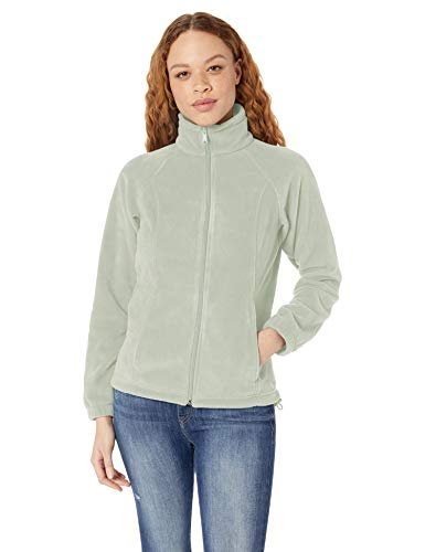 - Columbia Women's Benton Springs Classic Fit Full Zip Soft Fleece Jacket, Cool Green, Large