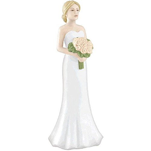 Amscan 100000 Blonde Bride Cake Topper, 4 1/8