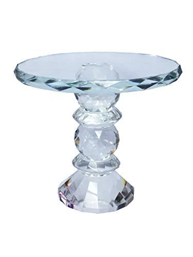 Cake Stand Cristal Sarquis Samara Vidro Transparente