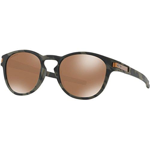Oakley Men's Latch Non-Polarized Iridium Oval Sunglasses, Olive Camo, 52.6 - Prescription Oakley Can Be Sunglasses