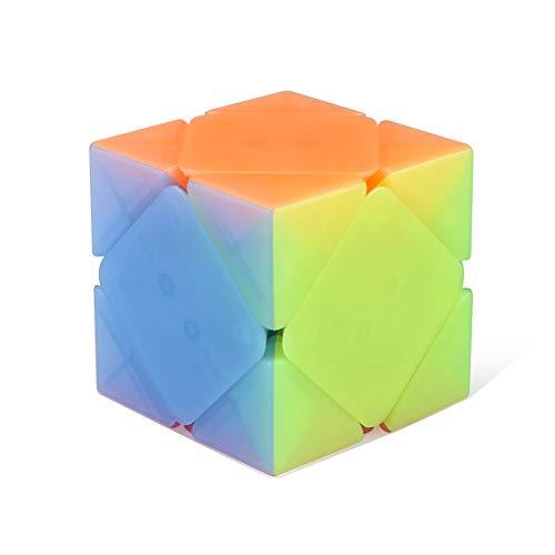 Price comparison product image JIAAE Oblique Rotate Rubik's Cube Children Puzzle Allotype Rubik, Jelly