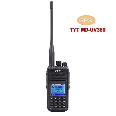 TYT MD-UV380 Dual Band Portable Handheld Radio W/GPS Tytera DMR/MotoTRBO (TDMA Tier I and Tier II) Amateur Radio (HAM)