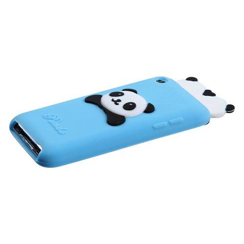 iPod touch(4th generation) Blue Peeking Pandas Pastel Skin Cover
