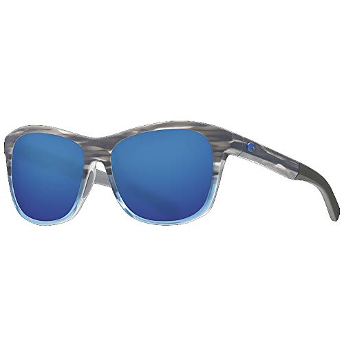 Costa Del Mar Ocearch Vela Sunglasses Shiny Coastal Fade/Blue Mirror 580Plastic