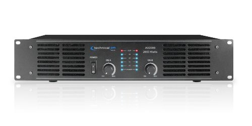 Technical Pro AX Amplifier Series AX2000 2000-Watt of peak power 2U Professional 2CH Channel Power Amplifier, Black