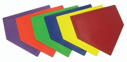 Throw-Down Baseball Bases...Set of 6 Sets (1 Set of Each Color) by Olympia Sports