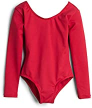 Elowel Kids Girls' Basic Long Sleeve Leotard (Size 2-14 Years) Multiple Co
