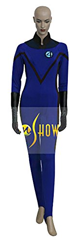 [Mtxc Women's The Fantastic Four Cosplay Costume Invisible Woman/Susan Storm Full Set Size Medium] (Storm Costume Cosplay)