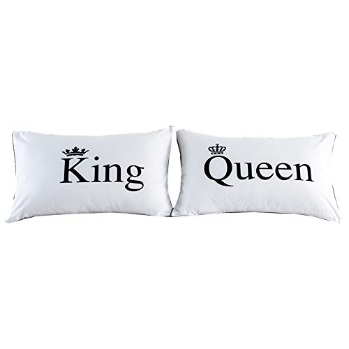 NTBED Couples Pillowcases Queen King Pillow Covers, Wedding Gifts (10, 19''x29'')