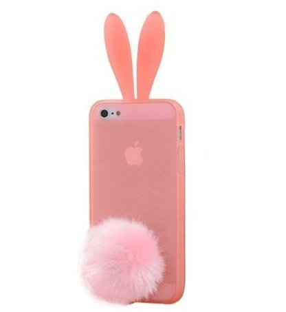 Newstore Cute Lovely Rabbit Silicone Bunny Case Cover Protector For Apple iPhone 5C (Pink)