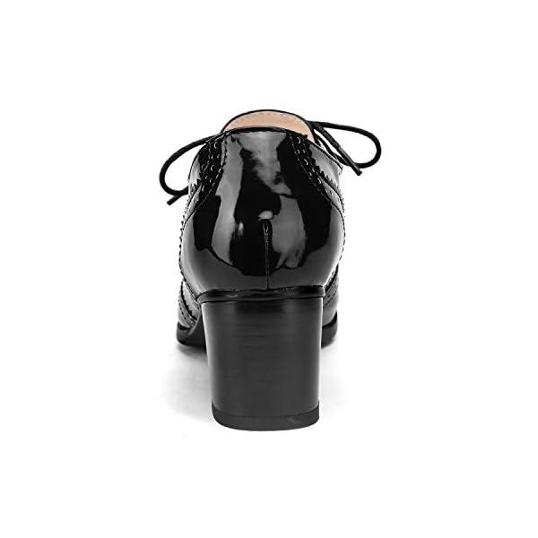 Oxfords Wingtip Lace up Mid Heel Pumps Shoes