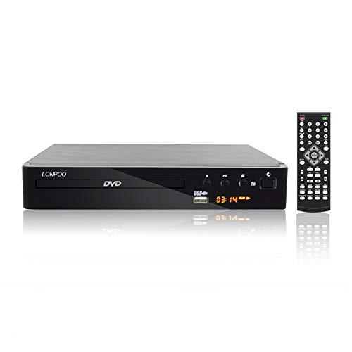 (LONPOO Compact HD DVD Player (All Region Free, PAL/NTSC, 720p, HDMI/ MIC/ RCA/ USB ports, Full-function Remote) LP-099)