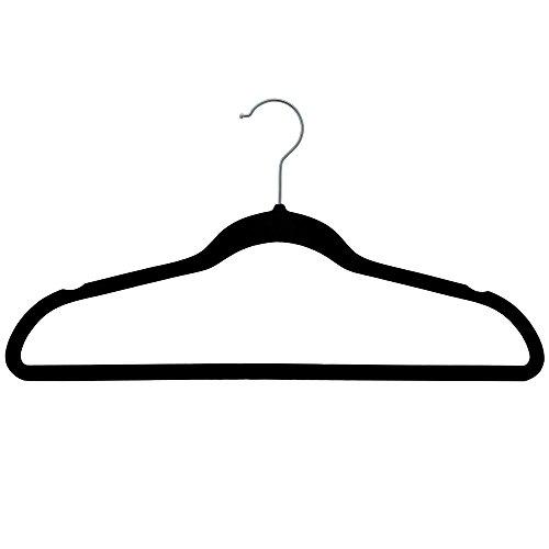 NAHANCO HSL17PBHU Plastic Suit Hangers, Flocked Slim Line...