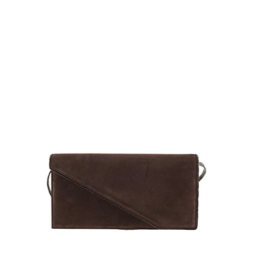 Bag Brown suede GION Bora Leather Clutch Women Evening XWp4wZq