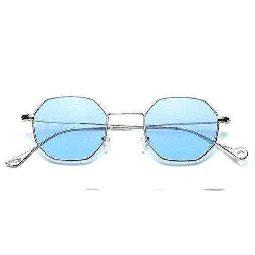métal Unisexe Aux Lunettes de Marque lunette de Lunettes Mode soleil classiques en IMJONO en femmes Hommes de Soleil Blue Lunette irrégularité rarwqI6