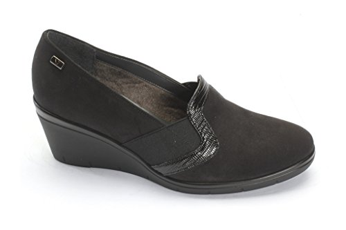VALLEVERDE Women's VALLEVERDE Flats Loafer Black Women's 5E5qwO