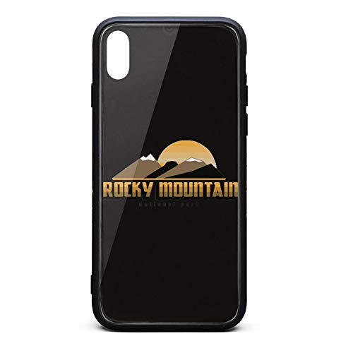 Cute Phone Case for iPhone Xs Mountain National Park Rubber Frame Tempered Glass Covers Protective Shock-Absorbing Skid-Proof Never Fade Cell Cases Printted (Crater Mountain Hoodie)