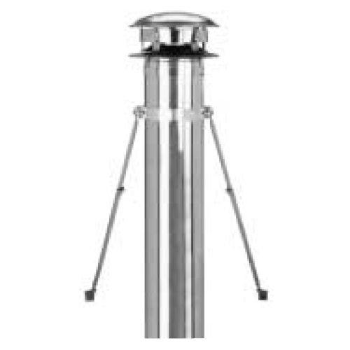 Metalbest URBK 8''- 10'' Ultra-Temp/Galva-Temp Class A Chimney Pipe - Universal Ro, Stainless Steel by Selkirk