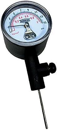 Tachikara Gauge Ball Pressure Gauge, Black