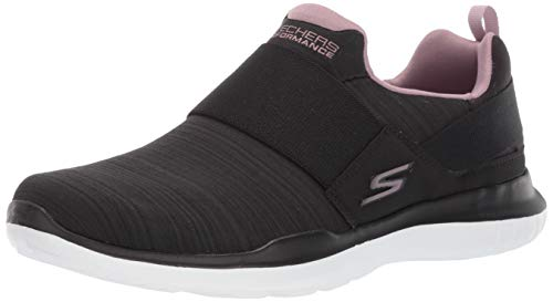 Skechers Women's GO Run MOJO-15116 Sneaker, Black/Mauve, 8 M US