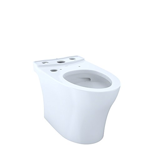 TOTO CT446CUGT40#01 Aquia IV WASHLET+ Elongated Skirted CeFiONtect, White-CT446CUGT40 Toilet Bowl, Cotton White
