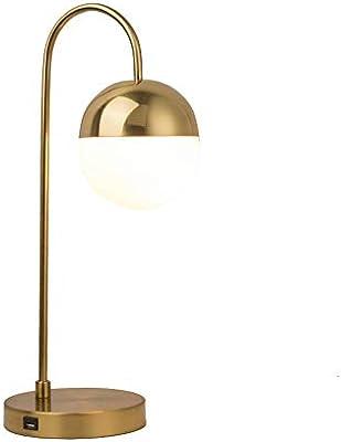 Lámparas de mesa de carga del teléfono móvil USB, Nordic LED Oro ...