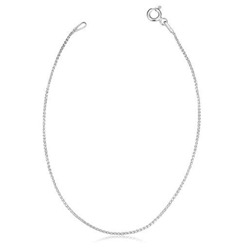 Kooljewelry Sterling Silver Round Wheat Chain Bracelet (1.1 mm, 8 inch)
