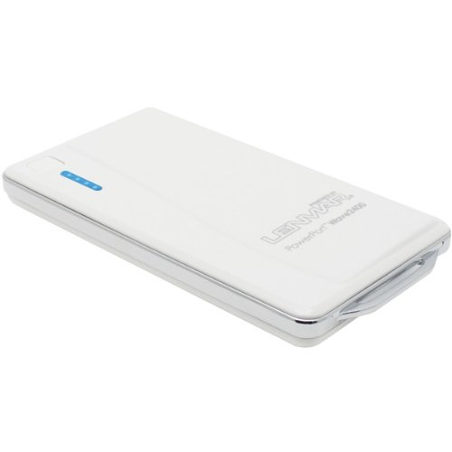 Lenmar Revv 2400 mAh 1 USB Port Power Bank External Portable Charger Battery Pack for Charging Batteries of iPhone 4 5 6 6 Plus Android Galaxy S5 S4 S3 Note 3 Note 4 Phones and other USB Powered Devices with Micro USB Cable, White