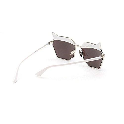 de nouvelles lunettes de soleil les lunettes de soleil les yeux des femmes élégante korean mesdames la personnalité des étoiles un miroirfilm de poudre case (sac) FXtUpQO22